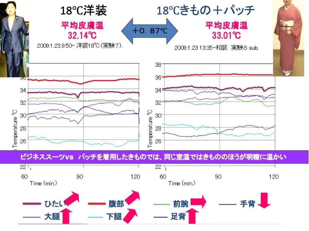 18℃洋装vs18℃きもの+パッチ